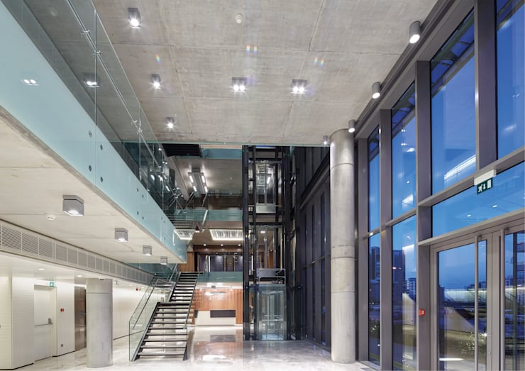 Avci Architects – AVCIARCHITECTS_06_ENTRENCE:  tarz Koridor ve Hol
