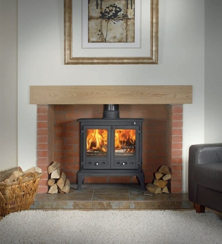 Firefox 12 Wood Burning - Multi Fuel Stove:  Living room by Direct Stoves