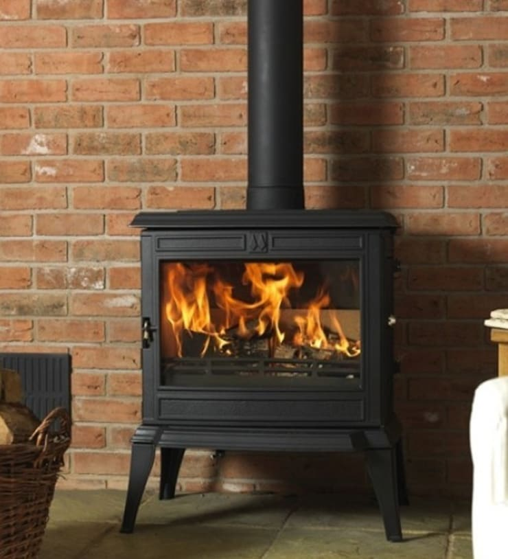 Franco Belge Monte Carlo Wood Burning Stove:  Living room by Direct Stoves