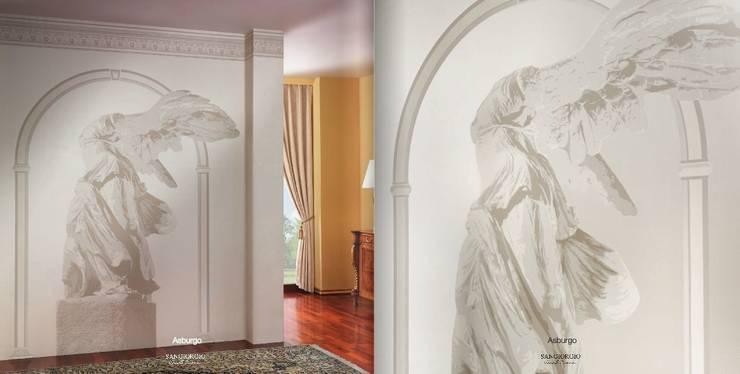 SK Concept Duvar Kağıtları ve Kumaş  – Sangiorgio - Asburgo Collection : akdeniz tarzı tarz Duvar & Zemin