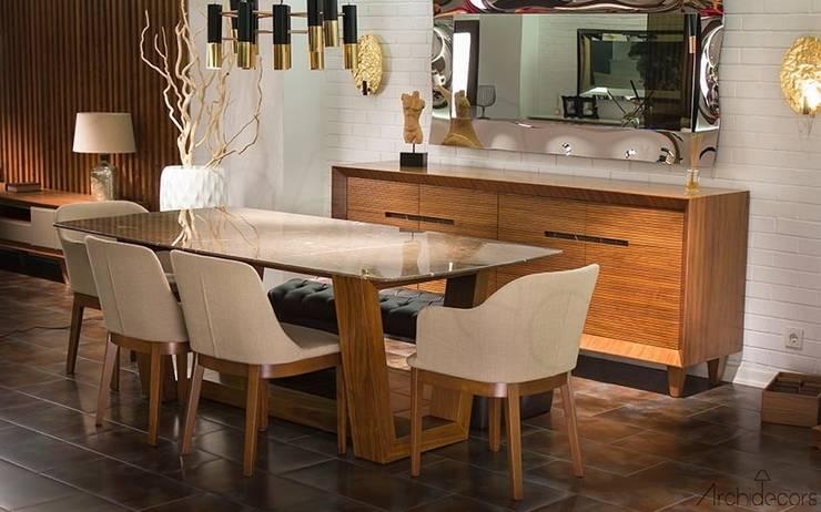 Archidecors – Moda Mermer Masa: modern tarz Oturma Odası