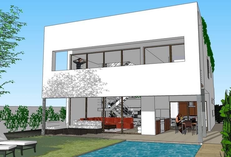 Fachada principal: Casas de estilo moderno de FG ARQUITECTES