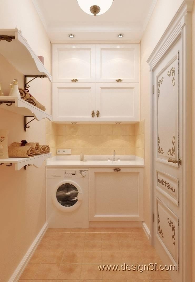прачечная: Ванные комнаты в . Автор – студия Design3F,