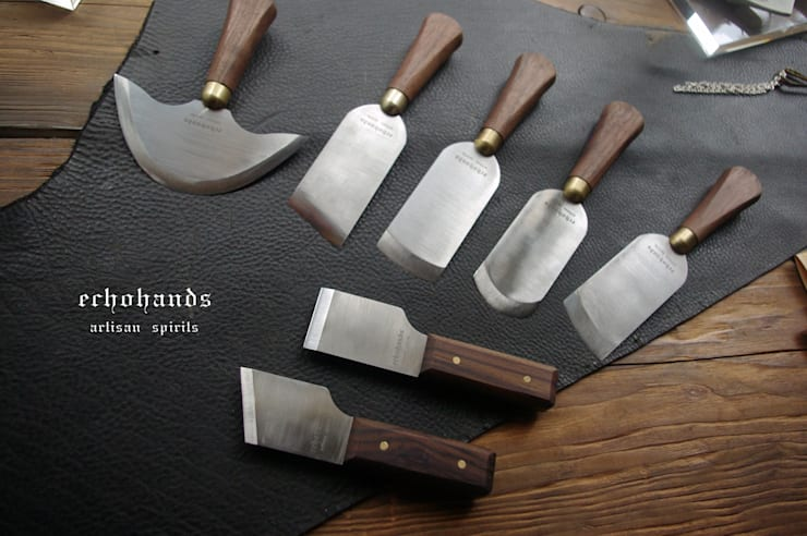 paring knives & cutting knives for leather works: 에코핸즈의  아트워크