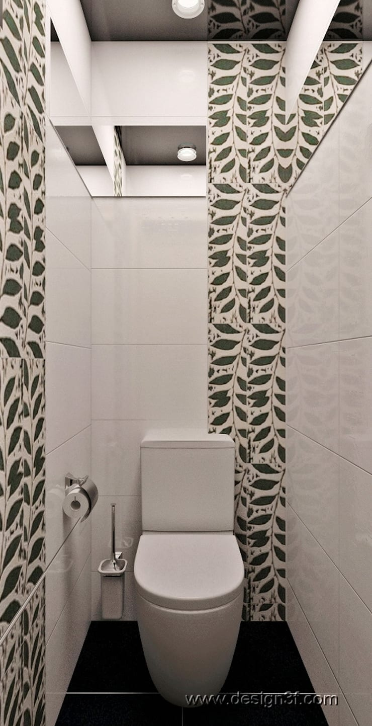 санузел: Ванные комнаты в . Автор – студия Design3F