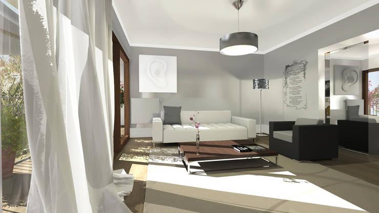 Architecture d'intérieur - Appartement Bordeaux, France: Salon de style  par Sandra Hisbèque