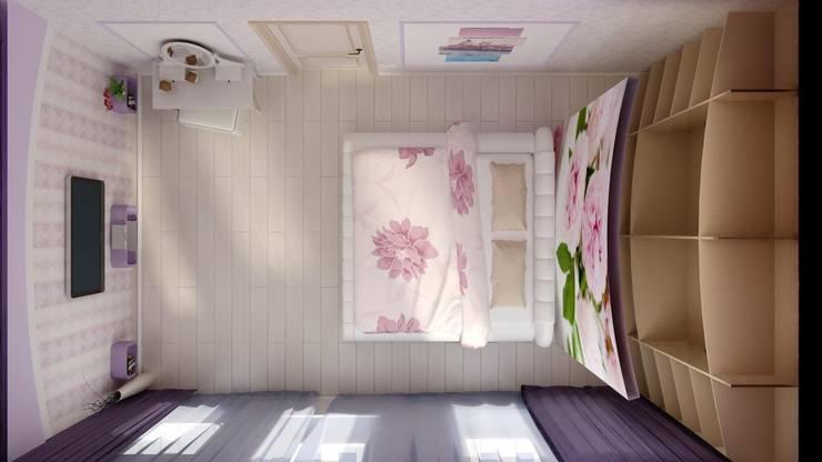 Идея для гардеробной в спальне.: Спальни в . Автор – Цунёв_Дизайн. Студия интерьерных решений.,