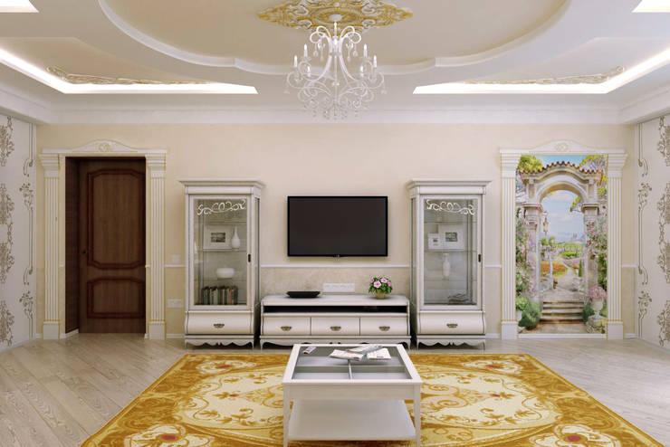 Гостиная в классическом стиле: Гостиная в . Автор – Дизайн студия 'Exmod' Павел Цунев