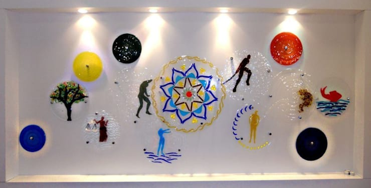 Camkanatlar – Füzyon Cam Karşılama Panosu:  tarz Sanat