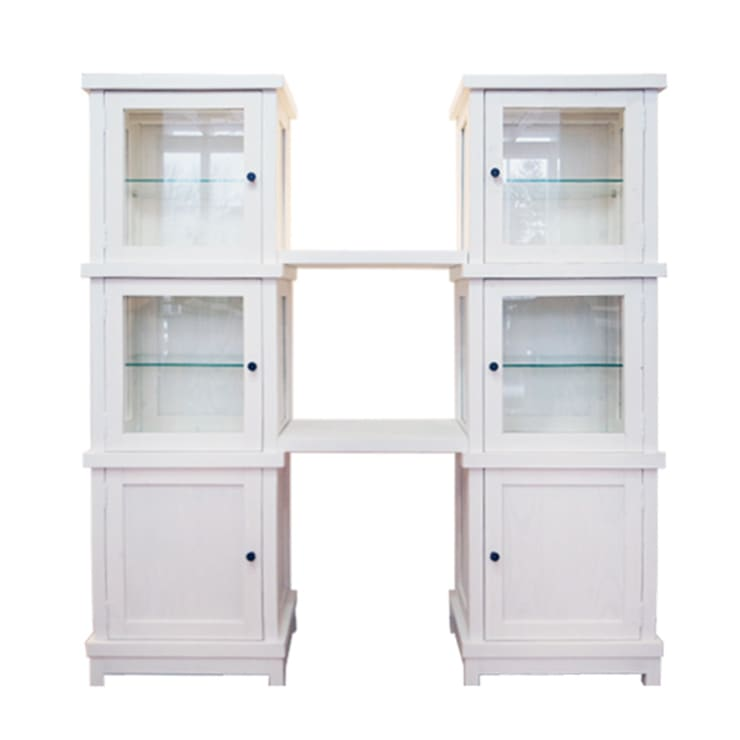White glass cabinet set : Design-namu의  거실
