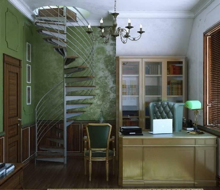 кабинет: Рабочие кабинеты в . Автор – студия Design3F,