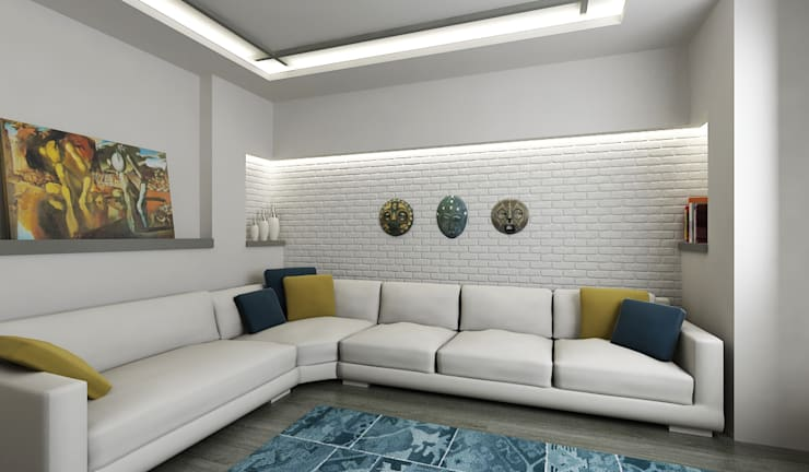 Salas / recibidores de estilo  por Niyazi Özçakar İç Mimarlık