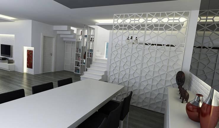 Niyazi Özçakar İç Mimarlık – E.K. EVİ:  tarz Yemek Odası