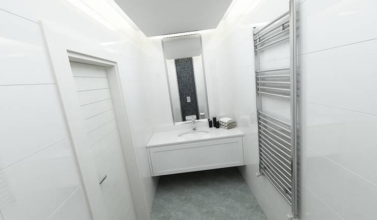 Niyazi Özçakar İç Mimarlık – E.K. EVİ: modern tarz Banyo