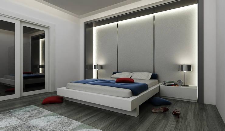 Niyazi Özçakar İç Mimarlık – E.K. EVİ:  tarz Yatak Odası