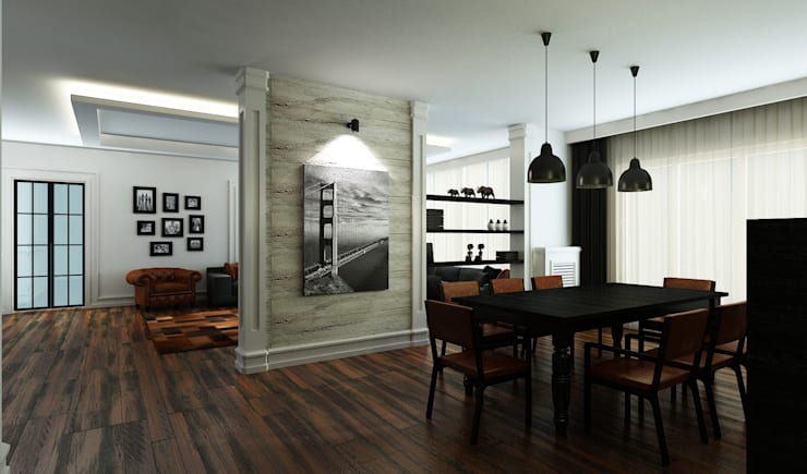 Salas de jantar ecléticas por Niyazi Özçakar İç Mimarlık