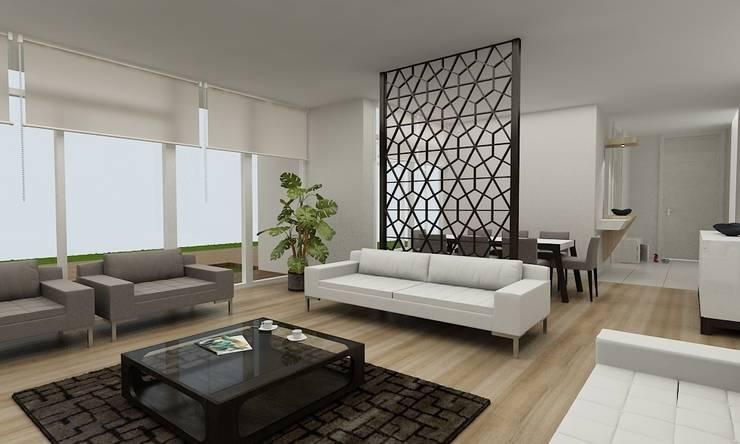 Niyazi Özçakar İç Mimarlık – Z.Ç. EVİ: modern tarz Oturma Odası