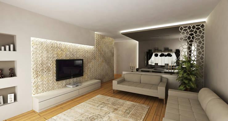 Niyazi Özçakar İç Mimarlık – E.E. EVİ: modern tarz Oturma Odası