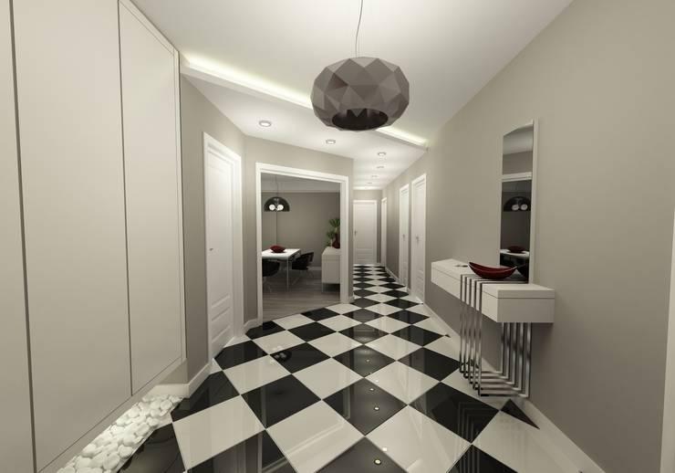 Projekty,  Korytarz, przedpokój zaprojektowane przez Niyazi Özçakar İç Mimarlık