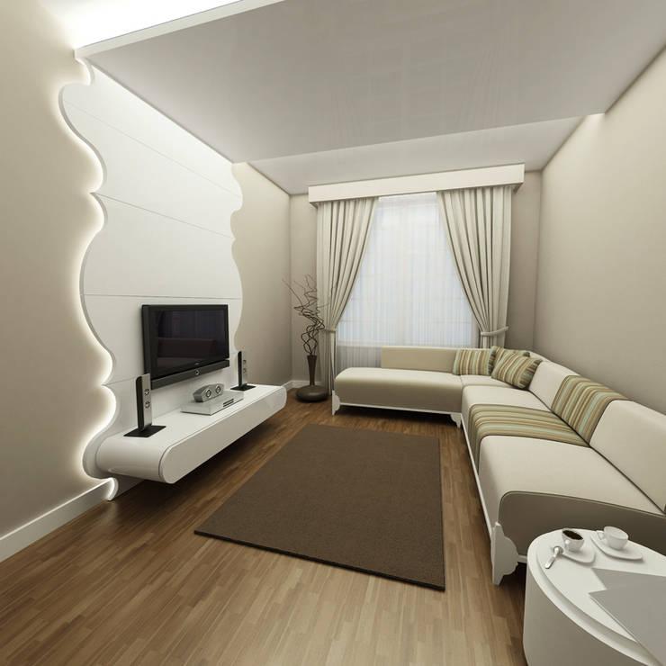 Niyazi Özçakar İç Mimarlık – SANABEL KONAKLARI: modern tarz Oturma Odası