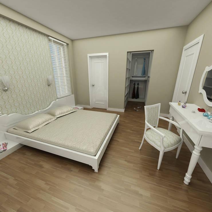 Niyazi Özçakar İç Mimarlık – SANABEL KONAKLARI: eklektik tarz tarz Yatak Odası