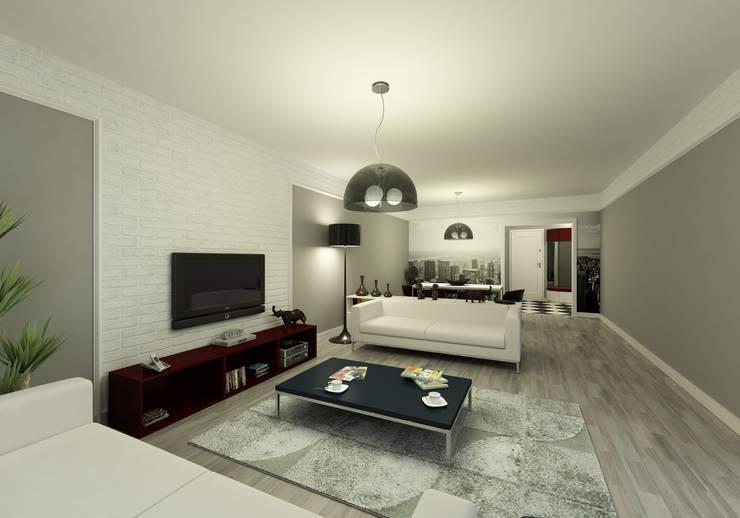 Niyazi Özçakar İç Mimarlık – METROKENT BURSA 3+1:  tarz Oturma Odası