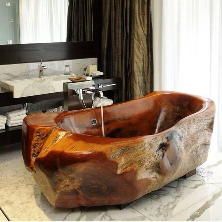 HARTAMA ORMAN ÜRÜN. İMAL. – Ahşap küvet:  tarz Banyo