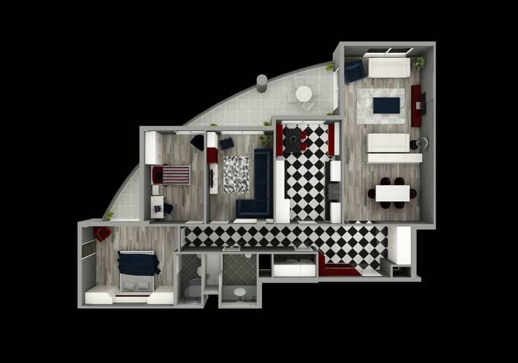 Niyazi Özçakar İç Mimarlık – METROKENT BURSA 3+1: modern tarz , Modern