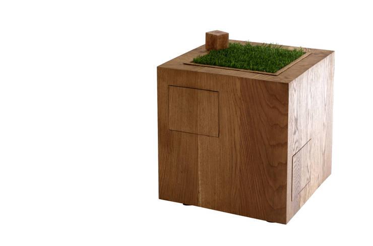Terra: Soggiorno in stile in stile Scandinavo di SLOW WOOD - The Wood Expert