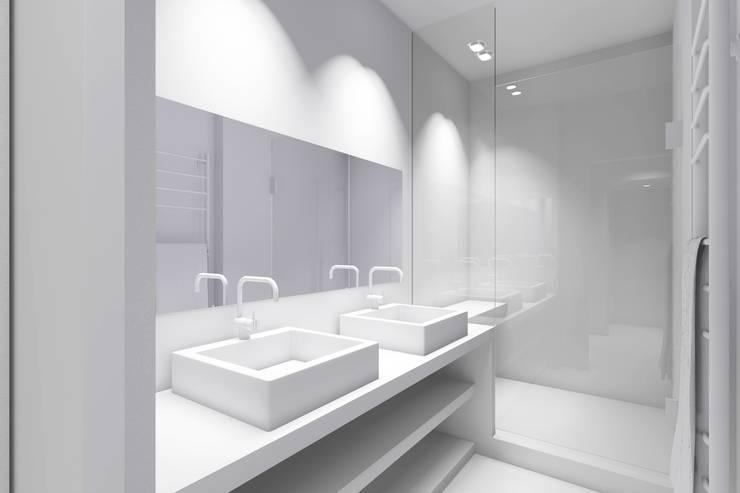 Projekty,  Łazienka zaprojektowane przez Lionel Parquet
