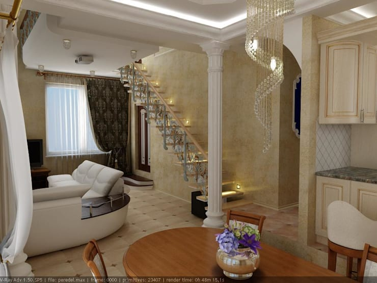 Living room by Цунёв_Дизайн. Студия интерьерных решений.