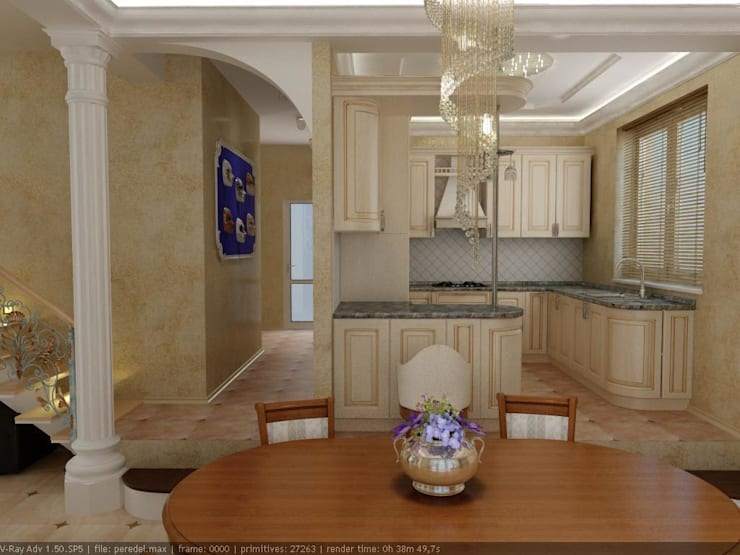 Kitchen by Цунёв_Дизайн. Студия интерьерных решений.