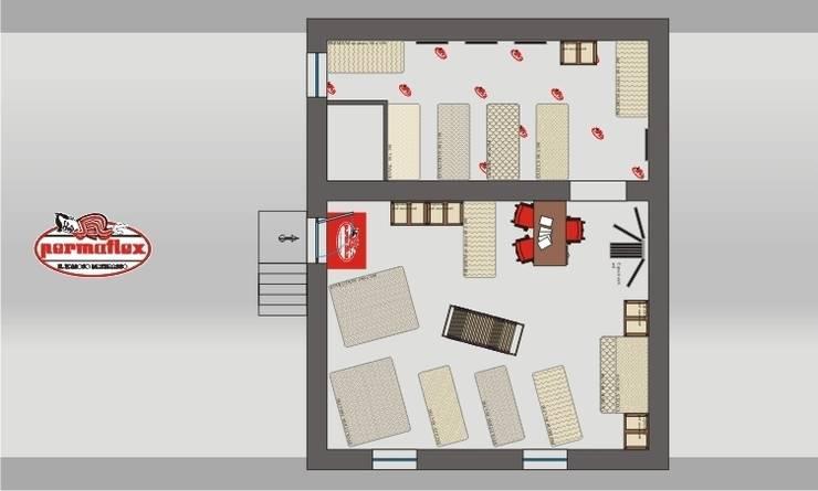 Permaflex punti vendita ed allestimenti progetto Claudio Bettini.: Negozi & Locali commerciali in stile  di bettini design, Classico