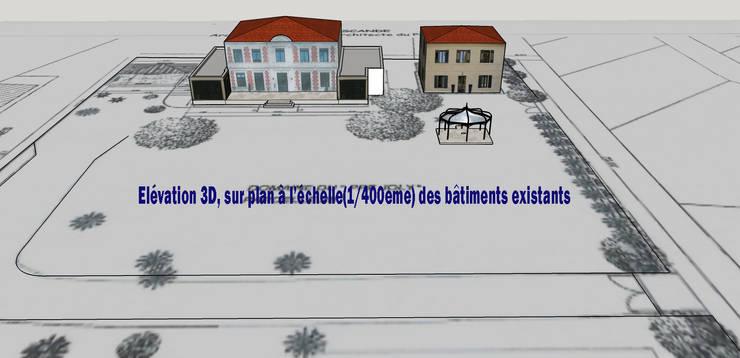 Création d'une piscine en 2 espaces distincts:  de style  par AZ Createur d'intérieur