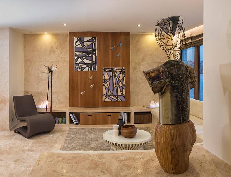 AK Design Studio – Stone Age- Mansion:  tarz Oturma Odası