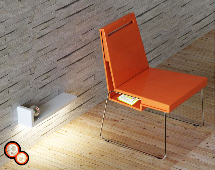 Chair with storage:  Study/office by Preetham  Interior Designer