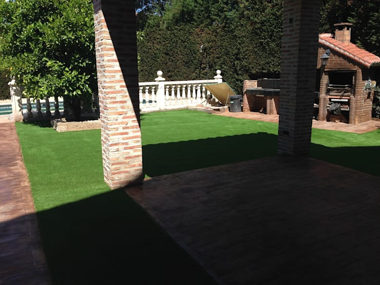 Césped sintético: Jardines de estilo  de Allgrass Solutions