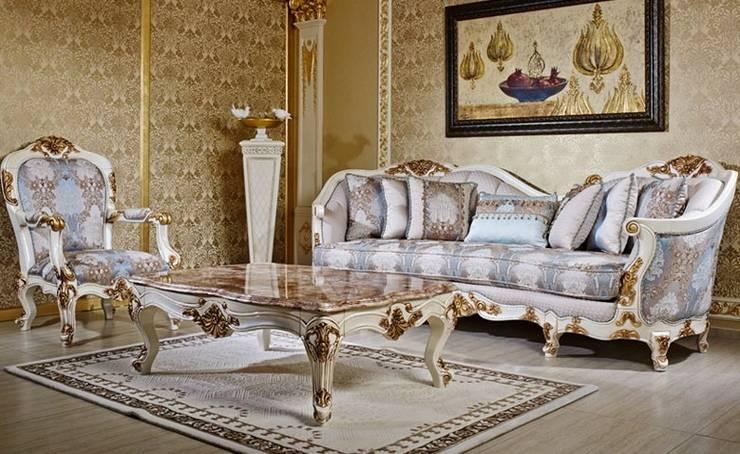 Asortie Mobilya Dekorasyon Aş.  – Esella Klasik Koltuk Takımı:  tarz Oturma Odası