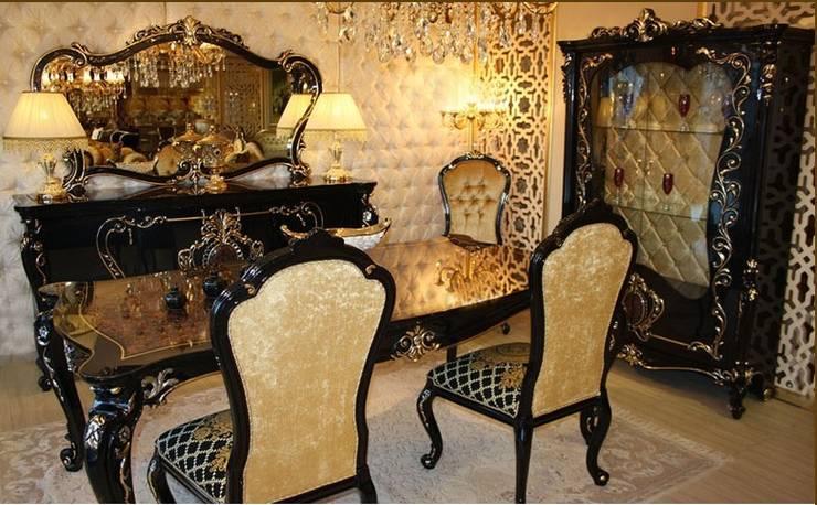 Asortie Mobilya Dekorasyon Aş.  – LAGOS KLASİK YEMEK ODASI:  tarz Yemek Odası