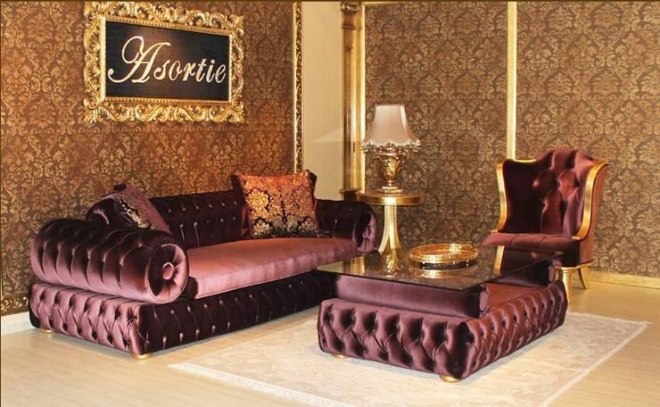 Asortie Mobilya Dekorasyon Aş.  – GİRNE KOLTUK TAKIMI:  tarz Oturma Odası