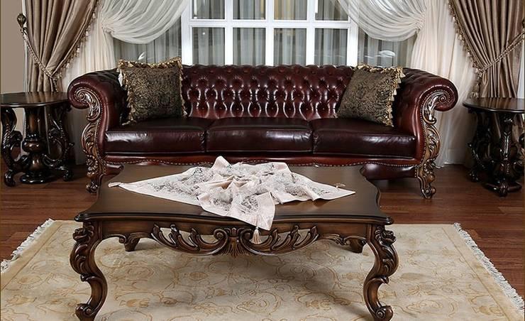 Asortie Mobilya Dekorasyon Aş.  – APOLYON DERİ KOLTUK TAKIMI:  tarz Oturma Odası