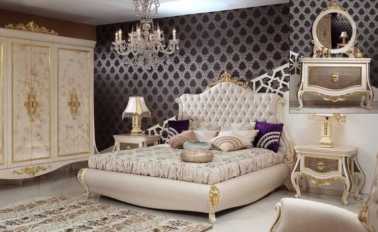Asortie Mobilya Dekorasyon Aş.  – ESTE KLASİK YATAK ODASI:  tarz Yatak Odası