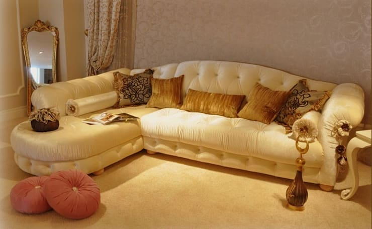 Asortie Mobilya Dekorasyon Aş.  – ŞIMARIK KÖŞE KANEPE:  tarz Oturma Odası, Klasik