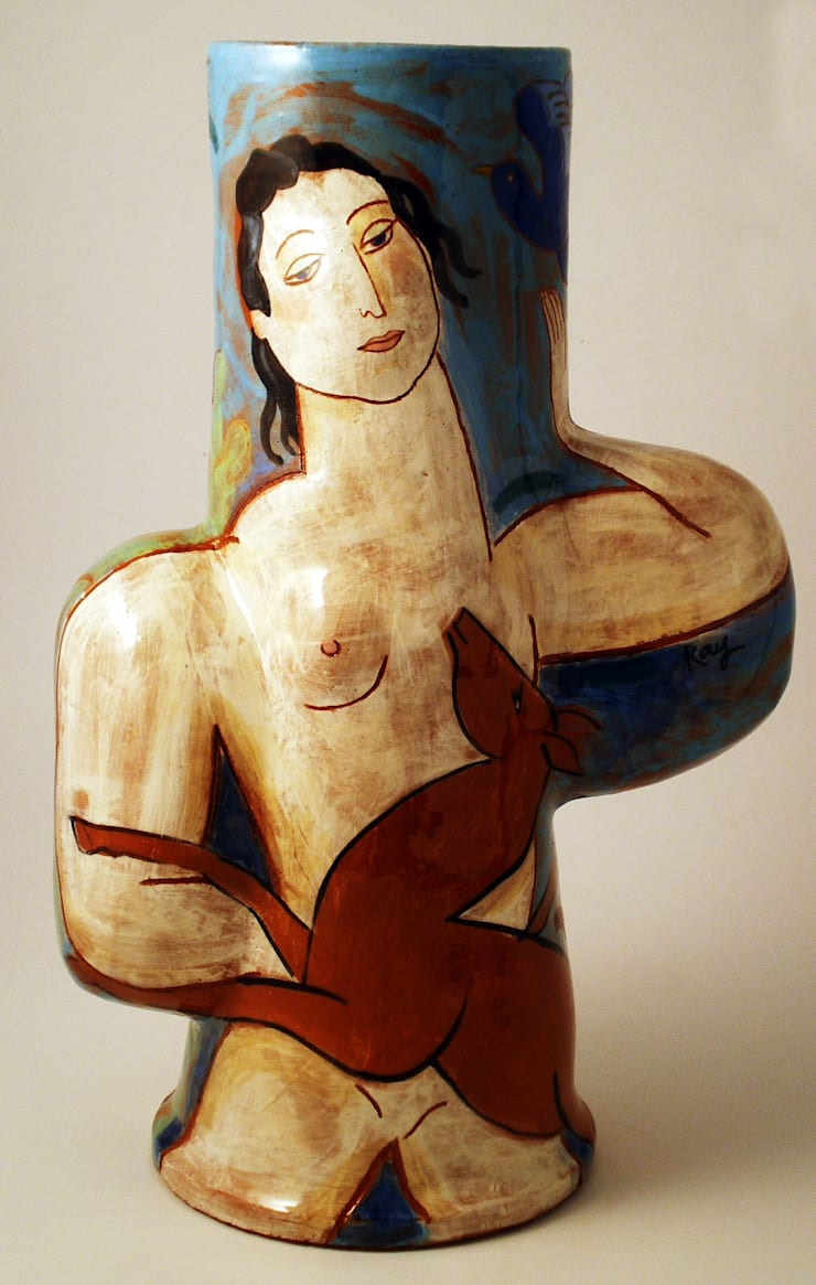 2 Faunes:  Artwork by Michael Kay; Ceramic Artist