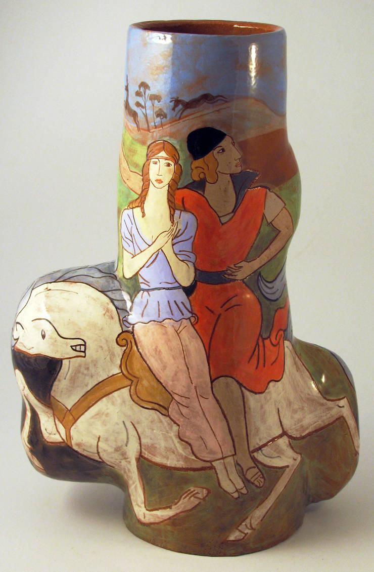 Enlevement d'Helene.:  Artwork by Michael Kay; Ceramic Artist