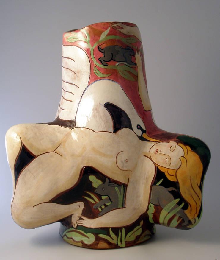 Leda and the Swan.:  Artwork by Michael Kay; Ceramic Artist