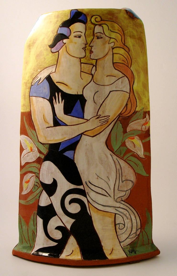 Les Amoureux.:  Artwork by Michael Kay; Ceramic Artist