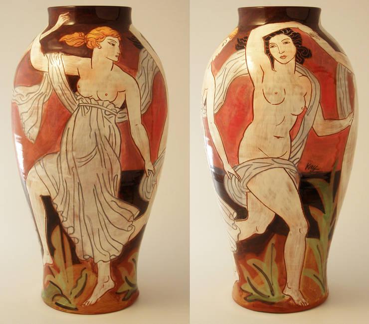 2 Graces:  Artwork by Michael Kay; Ceramic Artist