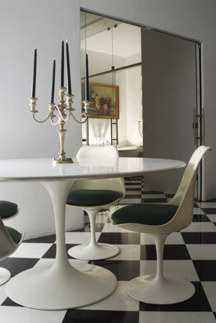 Villa EUR  Roma 2010/1012 : Soggiorno in stile  di EMC | Architects Workshop,