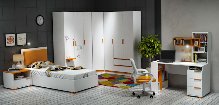 Dormitorios infantiles de estilo  por MİA MOBİLİ